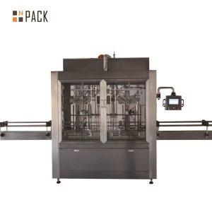 Pneumatische volumetrische Kolbenflüssigkeitsfüllmaschine mit zwei Köpfen