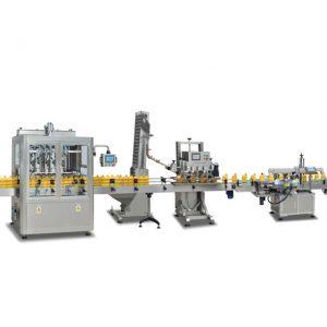 Vollautomatische Flachflaschentrommelschraube mit pneumatischer Einkopf-Verschließmaschine für Schmieröl-Kunststoffflaschen