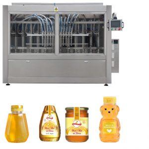 Automatische Servo-Kolben-Soße Honigmarmelade Hochviskose flüssige Füllung Verschließen Etikettiermaschine Linie